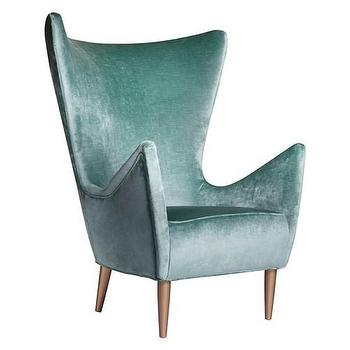 Seating - Mona Chair I Zinc Door - vintage duck egg blue chair, vintage style blue velvet chair, duck egg blue velvet chair, vintage style velvet chair,
