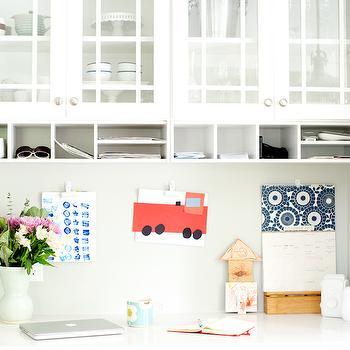 Kitchen Desk, Transitional, kitchen, Sherwin Williams Aloof Gray, Curbly