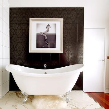 Damask Bathroom, Eclectic, bathroom, Megan Hess