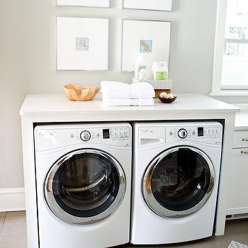 Aloof Gray, Transitional, laundry room, Sherwin Williams Aloof Gray, Curbly