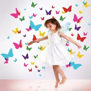 Art/Wall Decor - WallCandy Flutterflies 2 Decals | 2Modern - peel and stick butterfly wall decor, peel and stick butterfly wall decal, multi colored butterfly wall decal,