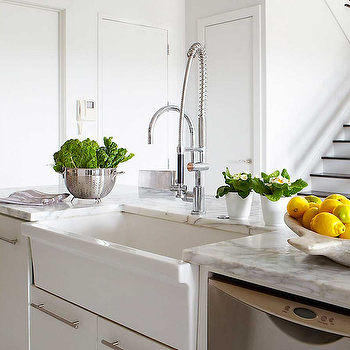 Island Apron Sink, Modern, kitchen, Jean Allsopp Photography
