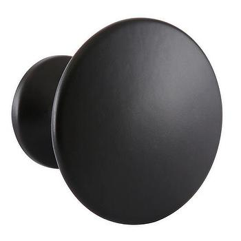 Decor/Accessories - Matte Finish Round Knob Black I The Land of Nod - black knob, simple black knob, matte black knob, matte black hardware,