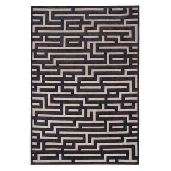 Rugs - Labyrinth Rug | Z Gallerie - gray and gray area rug, taupe and gray geometric rug, taupe and charcoal gray geometric rug, modern taupe and charcoal gray rug,