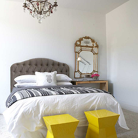 Blue Yellow Gray Bedroom Contemporary Bedroom Style