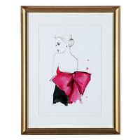 Art/Wall Decor - Dior Pink Bow | Z Gallerie - black white and pink figurative art, black and white figurative art with pink bow, black and white and pink art,