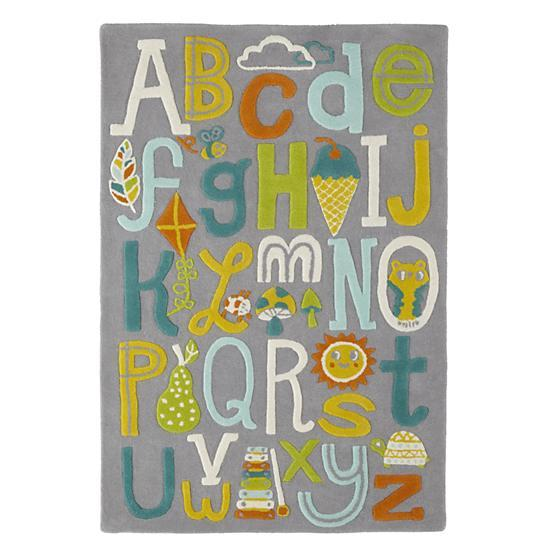Allison Cole Alphabet Wool Rug In New Rugs