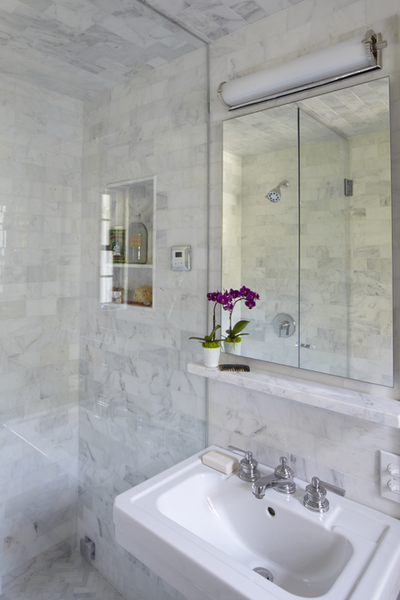 Marble Shelf Contemporary Bathroom Jan Ware Designs