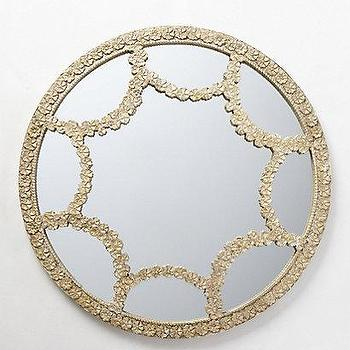 Mirrors - Floral Lace Mirror I anthropologie.com - round floral motif mirror, round floral patterned mirror, round mirror with floral patterned frame,
