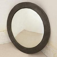 Mirrors - Below Deck Mirror I anthropologie.com - round industrial mirror, round zinc framed mirror, circular zinc framed mirror, industrial zinc framed mirror,