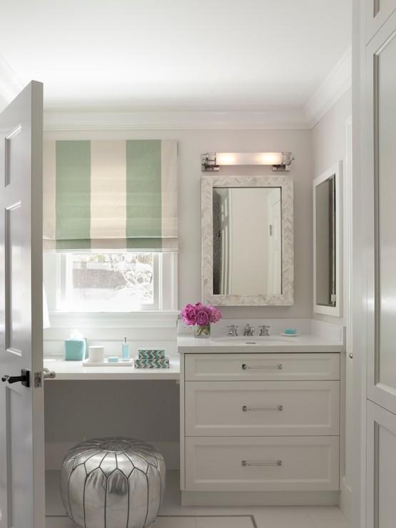 Floating Make Up Vanity Contemporary Bathroom Ann