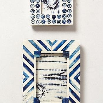 Decor/Accessories - Cassos Frame I anthropologie.com - blue and white bone inlaid photo frame, blue and white chevron bone inlay photo frame, blue and white dotted bone inlay photo frame,