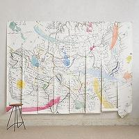 Art/Wall Decor - Tradewinds Wall Mural I anthropologie.com - map journal wall mural, map wall mural, tradewinds map wall mural,