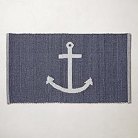 Bath - Sea Anchor Bathmat I anthropologie.com - blue and white anchor bath mat, blue and white anchor bath rug, navy and white anchor bath rug, navy and white anchor bath mat,