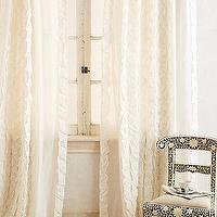 Window Treatments - Basal Curtain I anthropologie.com - ivory cotton drapes, ruffled cotton drapes, ivory cotton curtains, ivory ruffled cotton curtains,