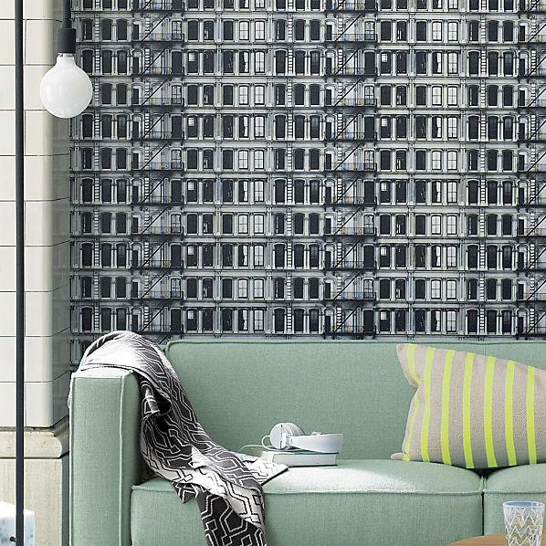 Facade Self Adhesive Wallpaper Cb2