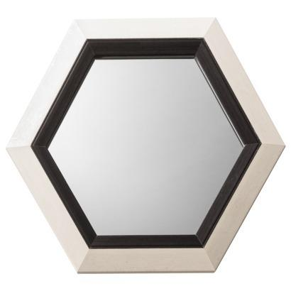 Threshold Two Tone Hex Mirror Black Ivory I Target