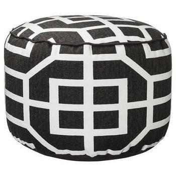 Seating - Threshold Lattice Pouf I Target - dark brown and white lattice print pouf, brown and white trellis print pouf, brown and white geometric print pouf,