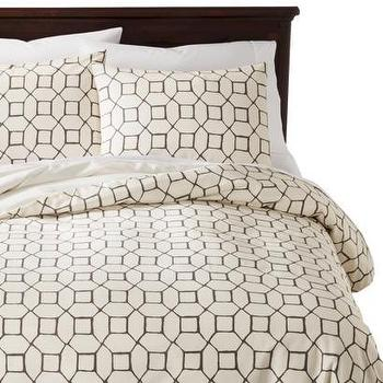 Bedding - Threshold Torn Paper Duvet Cover Set I Target - taupe and cream modern bedding, taupe and cream geometric duvet, taupe and ivory geometric bed linens, taupe and ivory geometric duvet cover,