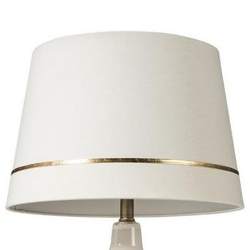 Lighting - Threshold Gold Stripe Lamp Shade - Cream (Large) I Target - cream shade with gold stripe, cream lampshade with thin gold stripe, tapered cream lampshade with metallic gold stripe,