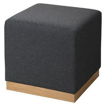 Seating - RE Cube Ottoman Gray I Target - gray cube ottoman, dark gray cube shaped ottoman, contemporary gray cube shaped ottoman,