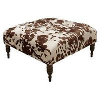 Seating - Udder Madness Cocktail Ottoman - Brown/Cream I Target - brown and white cow print ottoman, brown and cream cow print ottoman, cow print square shaped ottoman,