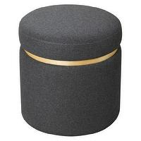 Storage Furniture - Storage Ottoman Grey I Target - round gray storage ottoman, gray storage ottoman, contemporary round gray storage ottoman,