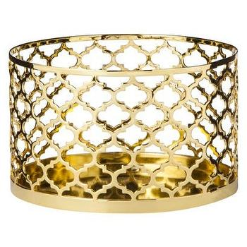 Decor/Accessories - MELT Pillar Holder I Target - moroccan style gold candle holder, moroccan fretwork pillar holder, gold quatrefoil candle holder,