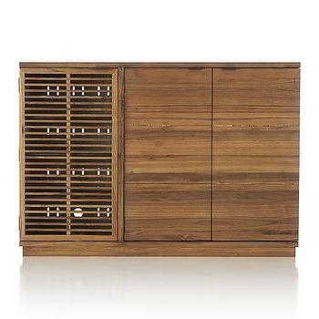 Storage Furniture - Marin Large Bar/Media Cabinet | Crate and Barrel - elm bar cabinet, modern bar cabinet, mid century modern bar cabinet, mid century modern elm bar cabinet,