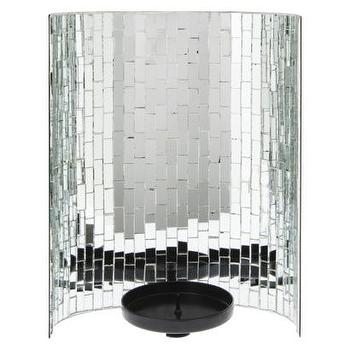 Decor/Accessories - Threshold Glass Mosaic Pillar Candle Holder I Target - mirrored mosaic candle holder, mirrored mosaic pillar candle holder, silver mirrored mosaic candle holder,