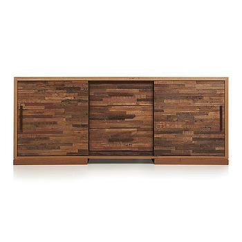 Storage Furniture - Seguro Caffe Media Console I Crate and Barrel - peroba wood media console, reclaimed wood media cabinet, modern reclaimed wood media console, contemporary reclaimed wood media cabinet,