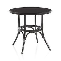 Tables - Vienna Black Bistro Table | Crate and Barrel - round black bistro table, black bentwood bistro table, round thonet inspired bistro table, black round cafe table,