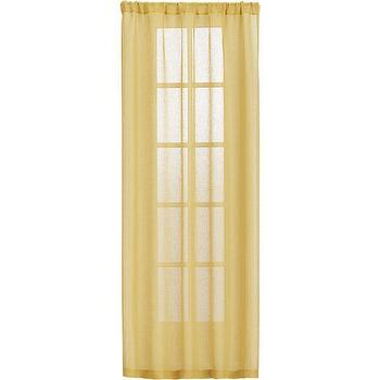 Window Treatments - Mustard Sheer Curtain Panels | Crate and Barrel - mustard yellow sheers, mustard yellow linen sheers, mustard yellow sheer drapes, mustard yellow sheer curtains,