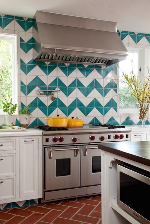 backsplash turquoise chevron tiles turquoise chevron tile backsplash