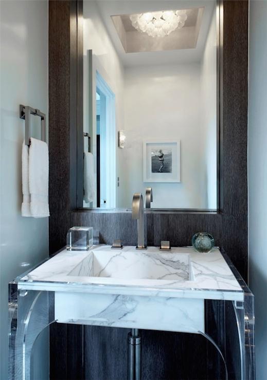Lucite Washstand Modern Bathroom Mar Silver Design