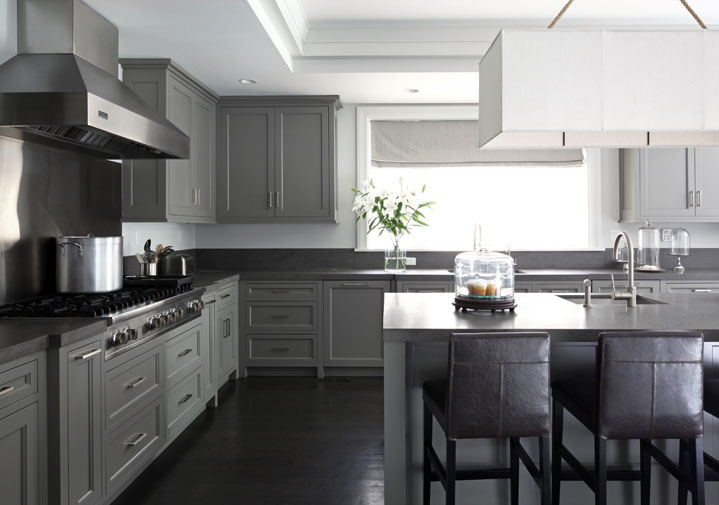 kitchen, gray kitchens, gray shaker cabinets, gray shaker kitchen