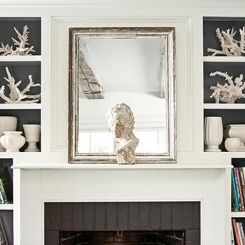 Fireplace Nooks, Cottage, living room, Benjamin Moore Flint, Benjamin Moore