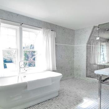 Bathroom Curtains, Transitional, bathroom, Benco Construction