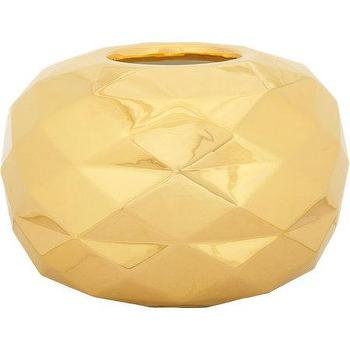 Decor/Accessories - Bosa Faceted Cut 2 Paunchy Vase I Barneys.com - modern gold vase, metallic gold vase, metallic gold faceted vase, small gold faceted vase,