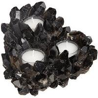 Decor/Accessories - McCoy Design Quartz Three-Tier Votive I Barneys.com - quartz candle holder, black quartz candle holder, smoky quartz votive holder,