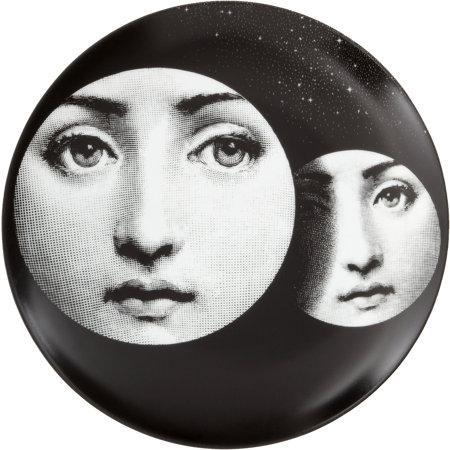 Fornasetti theme variations decorative plate 150 i - Fornasetti faces wallpaper ...