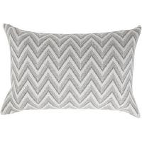 Pillows - Rani Arabella Dillon Modern Herringbone Knit Throw Pillow I Barneys.com - gray and white herringbone pillow, gray and white zig zag pillow, gray and white chevron pillow, gray and white chevron cashmere pillow,