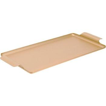 Decor/Accessories - Kaymet Works Long Rectangular Tray I Barneys.com - gold rectangular tray, gold canape tray, gold rectangular canape tray,