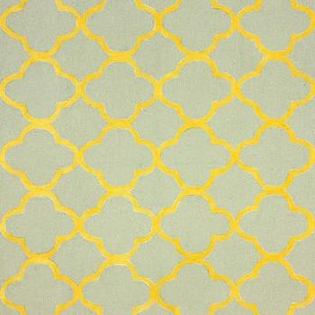 Rugs - Ina Wool and Cotton Area Rug in Gold design by NuLoom I Zinc Door - gray and yellow geometric rug, gray and yellow modern rug, gray and yellow moroccan rug, gray and yellow quatrefoil rug,