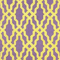 Rugs - Nicolette Wool and Cotton Area Rug in Purple design by NuLoom I Zinc Door - purple and yellow geometric rug, purple and yellow graphic rug, purple and yellow modern rug, purple and yellow moroccan rug,