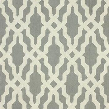 Rugs - Nicolette Wool and Cotton Area Rug in Grey design by NuLoom I Burke Decor - gray and white modern rug, gray and white geometric rug, gray and white trellis rug, gray and white lattice rug,