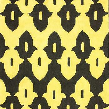Rugs - Honor Wool and Cotton Area Rug in Black design by NuLoom I Burke Decor - black and yellow rug, black and yellow geometric rug, black and yellow graphic rug, black and yellow modern rug,