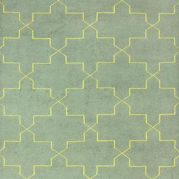 Rugs - Celeste 100% Wool Area Rug in Gold design by NuLoom I Burke Decor - gray green and yellow graphic rug, gray green and yellow modern rug, gray green and yellow moroccan rug,