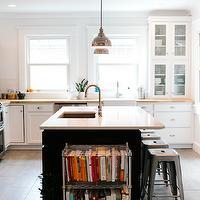 Gray Center Island Transitional Kitchen Kitchen
