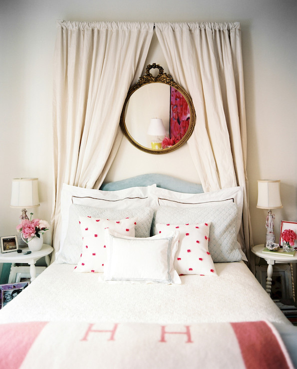Curtains Behind Headboard   Transitional   Bedroom   Lonny Magazine View  Full Size. Curtains Behind ...